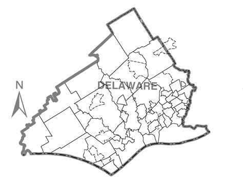 file map of delaware county pennsylvania no text png