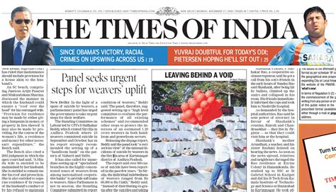 editorial section of times of india opinions on the times of india