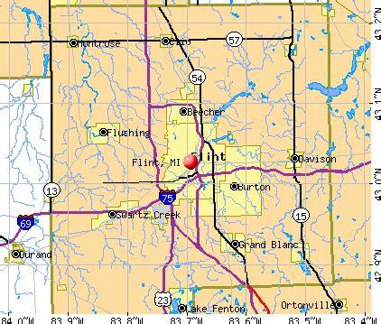 Map Flint Michigan by Flint Michigan Mi Profile Population Maps Real