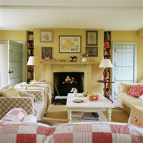 living room with country style checks housetohome co uk
