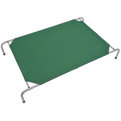 dog bed cot pawhut large elevated folding dog bed cot green