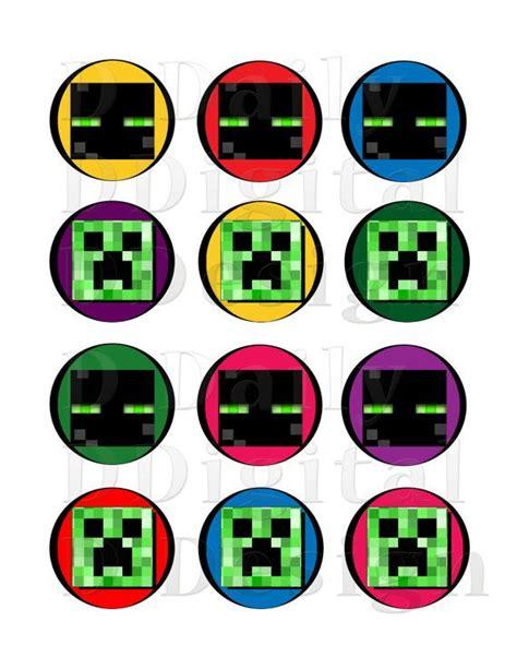 printable minecraft stickers minecraft diy printable stickers by dailydigitaldesigns