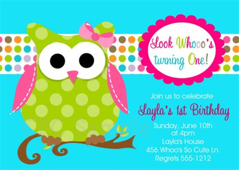 owl birthday invitation template owl birthday invitations printable or printed invite
