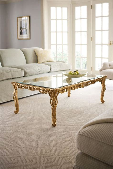 coffee table and carved wood in gold leaf coffee table