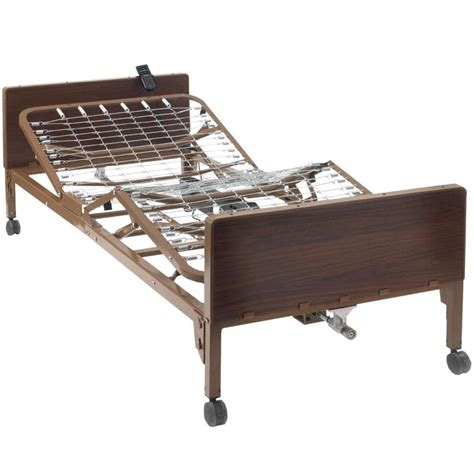 semi electric hospital bed ita med single crank semi electric hospital bed with two