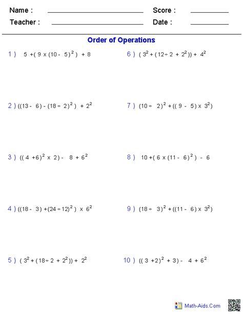 pemdas worksheets with answers pdf pemdas worksheets pdf