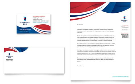 bank business card letterhead template design