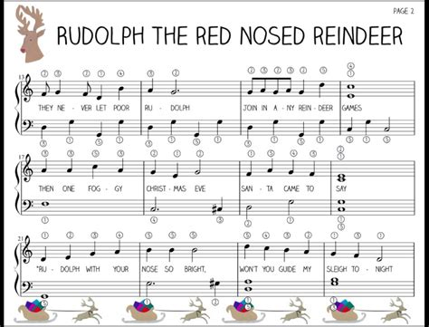 the reindeer section rudolph the red nose reindeer part 2 piano pinterest