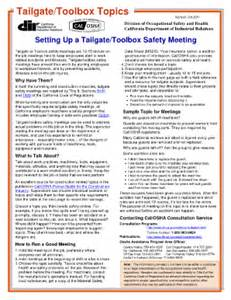 tailgate safety meeting template tailgate safety meeting fill printable fillable
