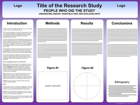 ppt poster templates free powerpoint scientific research poster templates for