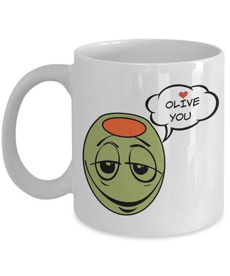 i olive you gifts white ceramic mug is the best gift for