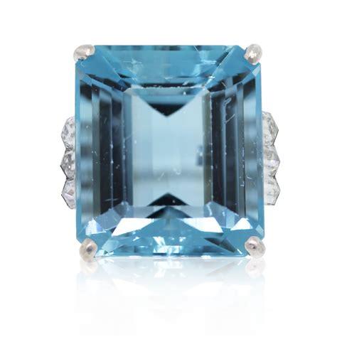 platinum 23 77ct emerald cut aquamarine bullet cut