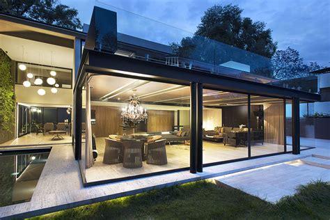 modern glass house