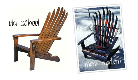 make adirondack chair from skis how to build an adirondack chair out of skis woodguides