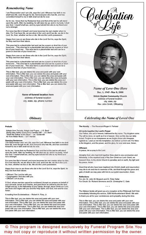 memorial bulletin template 25 best ideas about memorial service program on