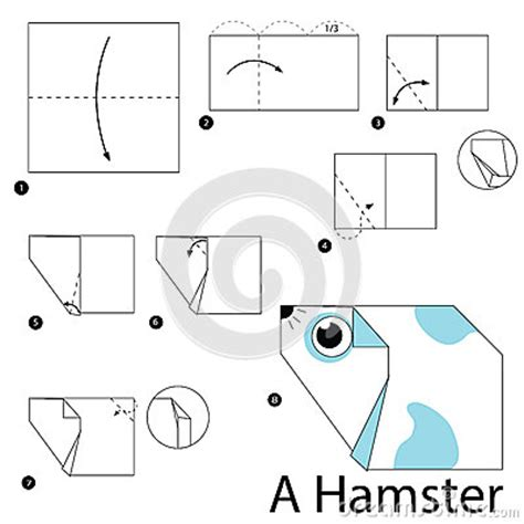How To Make An Origami Hamster - step by step how to make origami a hamster