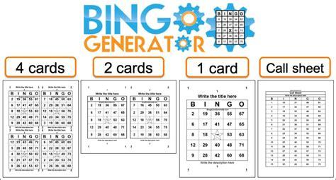 random number cards printable create free bingo cards bingo card generator