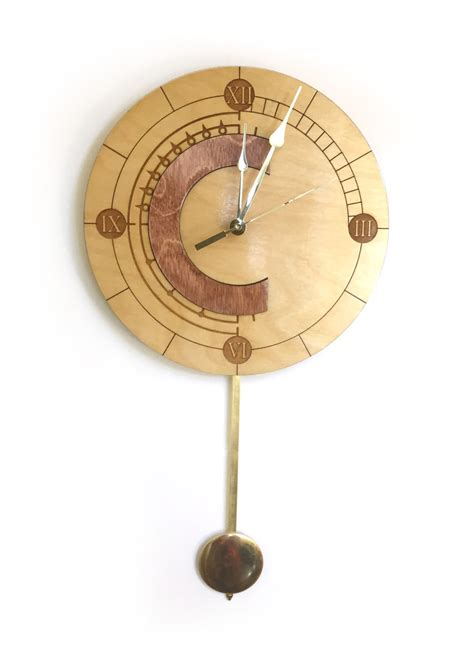 swinging pendulum clock wooden chrono trigger clock with swinging pendulum