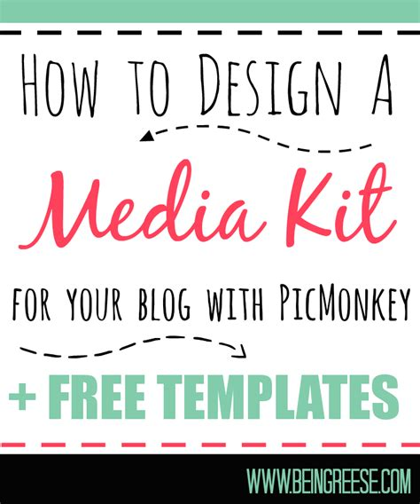 Media Kit Template by How To Design A Free Media Kit For Your Premade