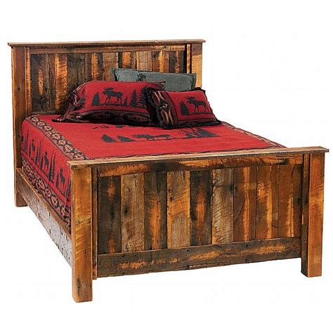 barnwood bed rustic barnwood traditional complete bed full reclaimed