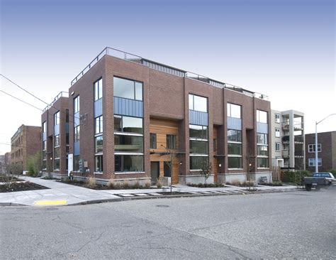seattle djc newspaper architecture engineering fourth and roy the shape of townhouses to
