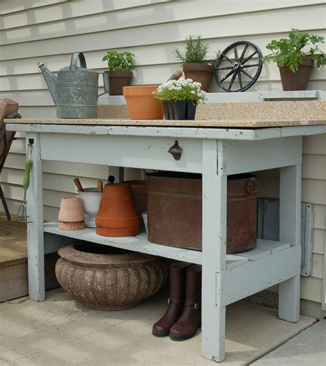 potting bench makeover unexpected elegance