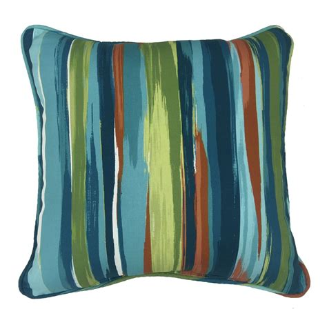 shop allen roth blue and green striped square throw