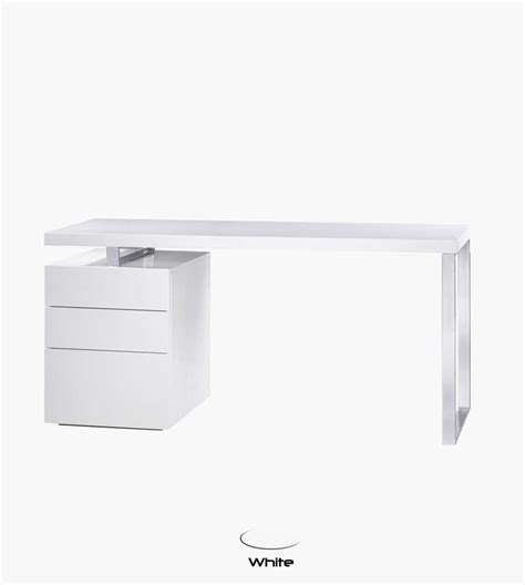 Bl Tessa Computer Desk In White Gloss Computer Desks White Gloss Desks