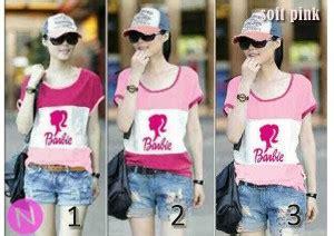 Sale Baju Atasan Jumbo Kaos Mecca Top Jersey Polos kaos remaja pink stripe k29 baju cewek keren modis murah