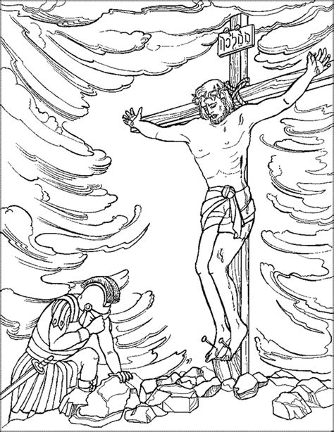 coloring pages jesus crucifixion jesus on the cross coloring page