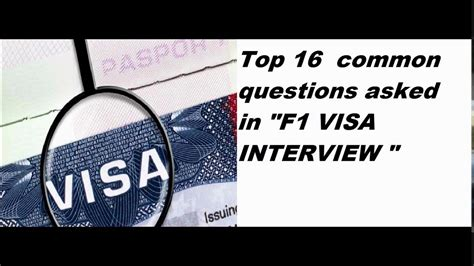 F1 Visa Questions And Answers For Mba by F1 Visa Questions And Answers Usa