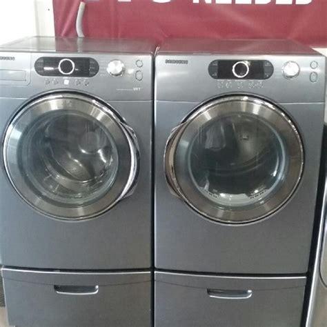 washer dryer set silver samsung silver care washer electric dryer set