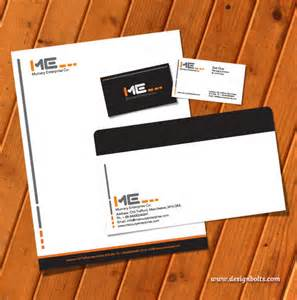 Business Card Letterhead Envelope Template by Free Vector Printable Stationery Design Template