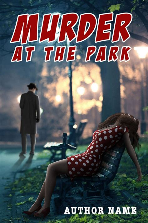 The Park Murders murder at the park the book cover designer
