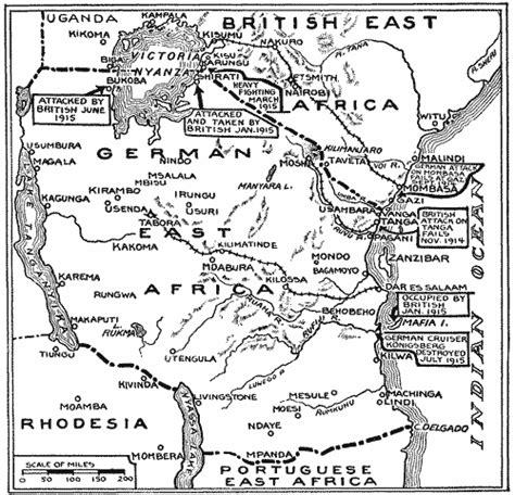 world war 1 africa map other fronts
