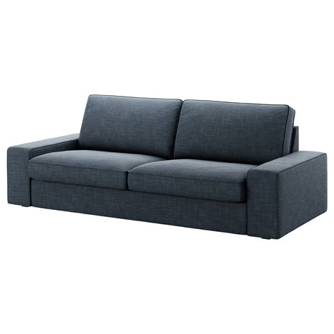 blue sofas ikea kivik three seat sofa hillared dark blue ikea
