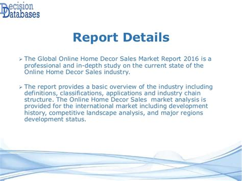 Home Decor Sales Global Home Decor Sales Market 2016 Industry Trends And Analys