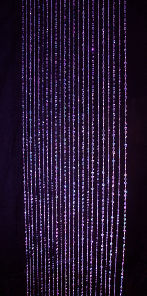 crystal drapes beaded curtain event rental