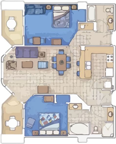 Marriott Aruba Surf Club Floor Plan | two bedroom villas arubasurfclubresort com