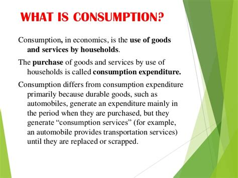 usage pattern definition consumption and investment function