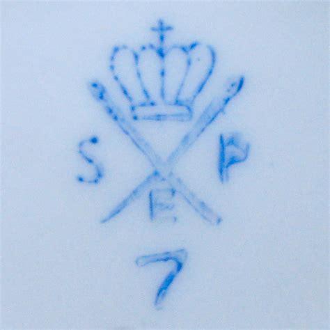 Porzellanmarken Krone W by Porzellanfabrik Spezialporzellan Eisenberg Spe In