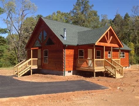 Manufactured Log Cabin Homes by 47 X 25 Modular Log Cabin Mountain Id 48