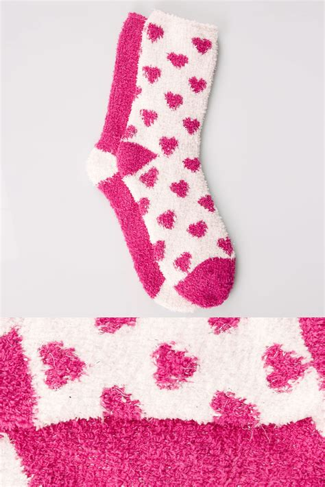 Find S Names By Address Uk 2 Pack White Fuchsia Print Sparkle Cosy Socks