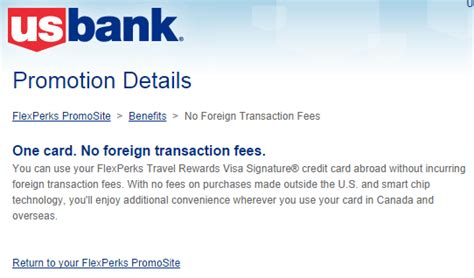 flexperks us bank us bank flexperks no foreign transaction fees 1 000