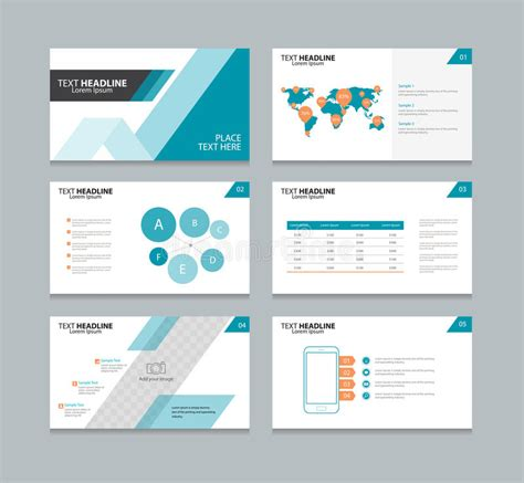 layout presentation illustrator page layout design template for presentation stock vector