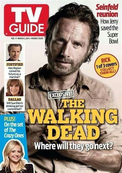 tv couch walking dead rick the walking dead tv guide cover tv time pinterest