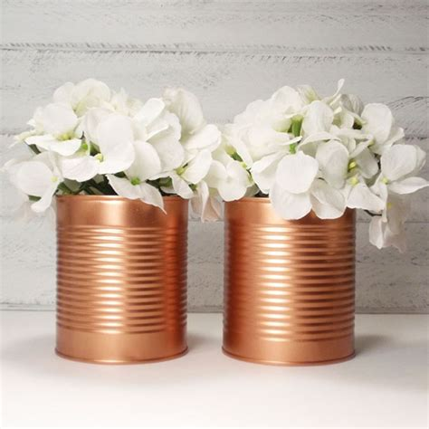 Tin Vases Wedding 1000 ideas about tin can centerpieces on wedding flower decorations memorial day