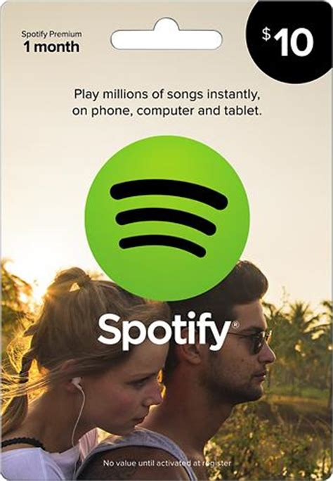 Spotify Premium One Year Gift Card - 50 visa gift card giftcardshunters com