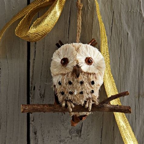 West Elm Owl L by 1000 Images About Bottle Brush Ornaments On