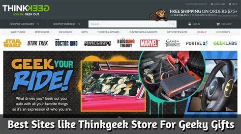 Sites Like Thinkgeek | best 7 sites like thinkgeek store for geeky gifts